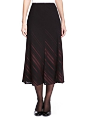 M&S Collection Satin Striped Long Skirt