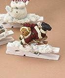 Boyds Bears Sledding Bear Clothespin Ornament Retired 257210