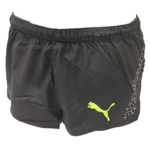 Puma Mens Running Split Leg Shorts - Black