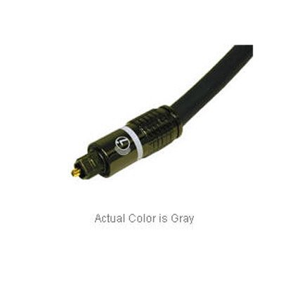 Cables To Go 1M Sonicwave Glass Toslink Audio Cable 24K Gold Plated Collet Provides Rigidity