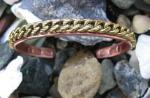 Men's Solid Copper 9 Inch Magnetic Cuff Bracelet #955