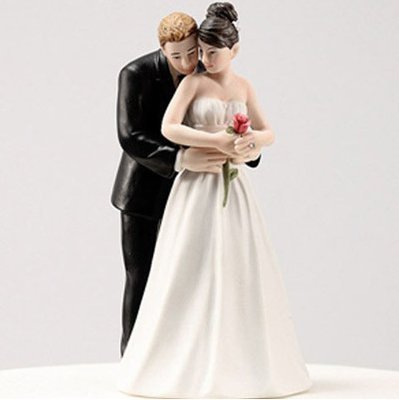 Resin Wedding Cake Topper (Romantic Hug)
