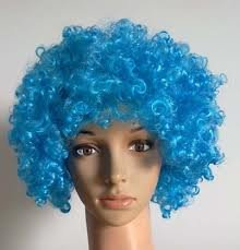Bliss Pro's Blue Children's Afro Wig Halloween Costume Party Wig 70's 80's