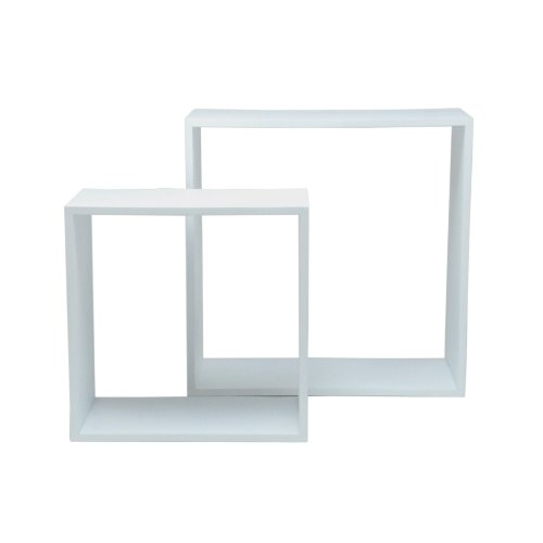White Cube Shelf Display