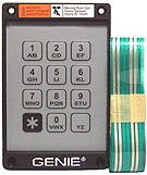 Images for Genie Garage Door Opener Replacement Keypad and Ribbon for KEP-1