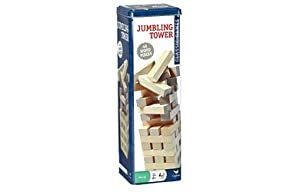 Solid Wood Jumbling Tower 48 Pieces in a Tin Classic Game