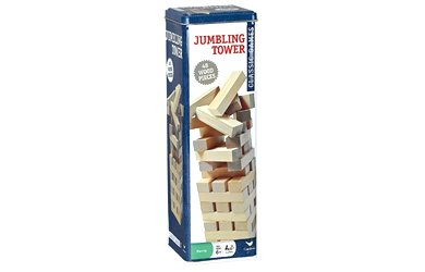 Solid Wood Jumbling Tower In A Tin by Cardinal Industries
