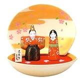 【雛人形/ひな人形】錦彩貝合わせ立雛 出産祝い お雛様 陶器 桃の節句 雛祭り 内祝い 誕生日お祝い 大人女子もひな祭り