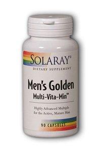 Solaray Men'S Golden Multi-Vitamin Capsules, 90 Count