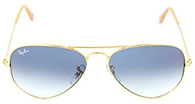 Ray-Ban RB 3025 001/3F Aviator Arista / Light Blue Crystal Gradient Lens