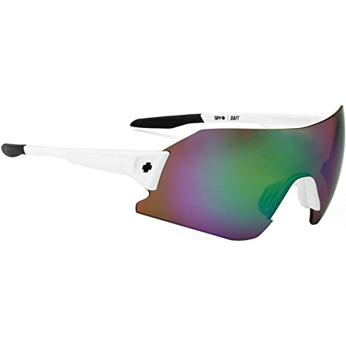 Spy Optic Daft Happy Lens Collection Sunglasses, White/Bronze with Green Spectra, One Size Fits All