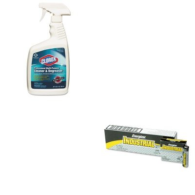 Kitcox30865Eveen91 - Value Kit - Clorox Professional Multi-Purpose Cleaner Amp;Amp; Degreaser (Cox30865) And Energizer Industrial Alkaline Batteries (Eveen91) front-591378