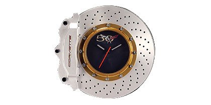 Auto Art Corvette Brake Disc Wall Clock