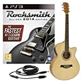 Rocksmith 2014 PS3 + Guitare Electro acoustique Pan Coupé simple Naturel
