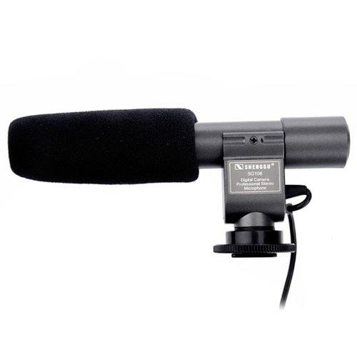 Shenggu Sg-108 Professional Stereo Electret Condenser Microphone For 3.5Mm Mic Digital Camera Dslr Dv Handycam Camcorder Sg-108