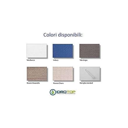 Lavabo in Ceramica 60x45 con 2 Cassetti Sovrapposti CENTO BIANCO,sifone,piletta,troppopieno e fissaggi BIANCO Colavene