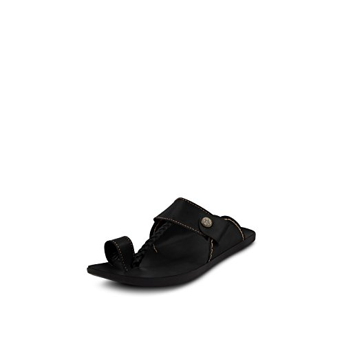 Get Glamr Get Glamr Men's Black Synthetic Leather Harding Flats
