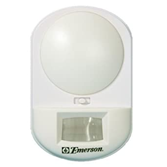 emerson battery powered motion activated security light night lights. Black Bedroom Furniture Sets. Home Design Ideas