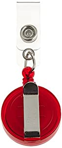 """RETRACTABLE BADGE HOLDER CORD EXTENDS TO 23"""" RUBY BUTTON DESIGN"""