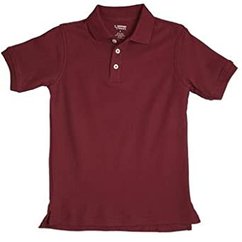 Burgundy short sleeve pique polo shirt at amazon men s Burgundy polo shirt boys