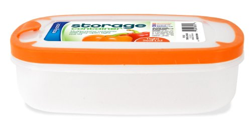 Easy Pack Rectangle Plastic Storage Container, 43-Ounce (Resealable Plastic Containers compare prices)