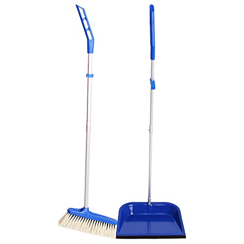 MR. SIGA Upright Broom (24cm) and Metal Dustpan (25cm) Set (Metal Dust Pan Broom compare prices)