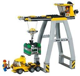lego world city 4514 cargo crane amazon co uk toys amp games
