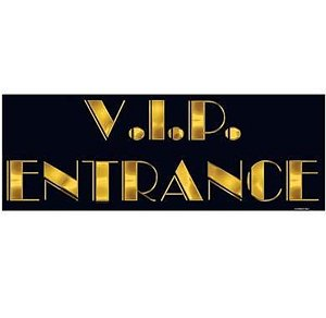 VIP Entrance Sign Party Accessory (1 count) - 1