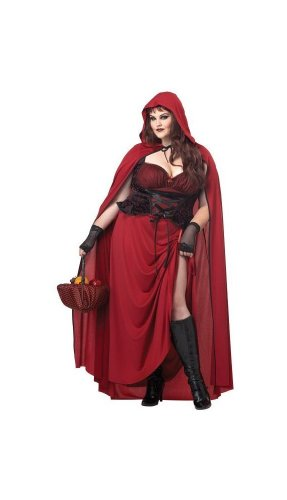 Dark Red Riding Hood Adult Plus size Costume