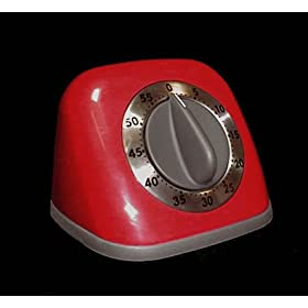 60 Minute Kitchen Timer - (Red)
