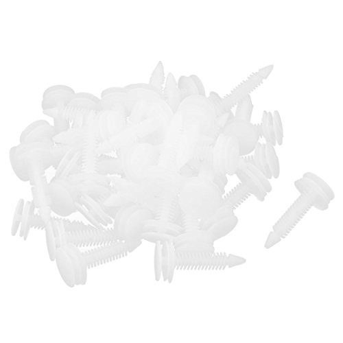 uxcell 497 Pcs White Plastic Screw Door Rivets 8mm Hole (Chevrolet C1500 Door Moulding compare prices)
