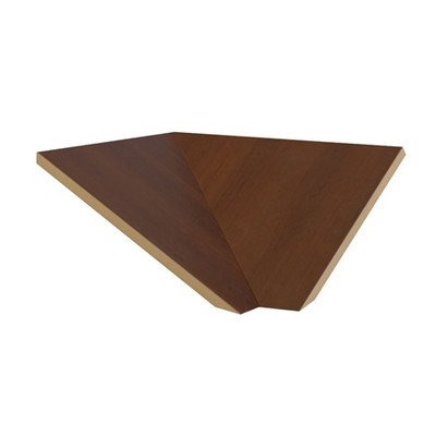 "Corner Sloping Hood Filler Size: 7.75"" H X 21"" W X 22"" D, Color: Mahogany front-550839"