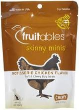 Fruitables Skinny Minis Chewy Dog Treats in Rotisserie Chicken Flavor, 1-5-Ounce