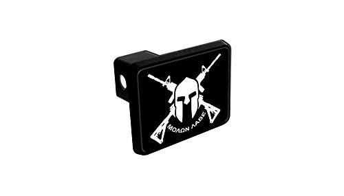 Trailer Hitch Cover - Molon Labe AR-15 Spartan (Black and White) (Trailer Hitch Fishing compare prices)