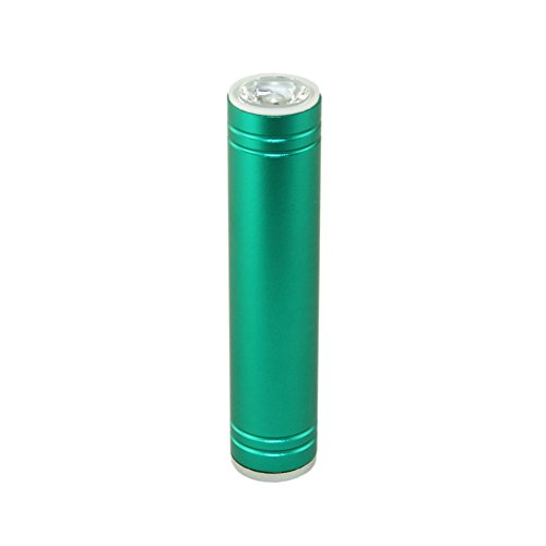 Mini 2600Mah External Battery Pack Compact Lipstick Size Portable Power Bank Backup Charger With Highlight Flashlight For Iphone 5S 5C 5 4S 4, Samsung Galaxy S5, S4, S3, S4 Mini, S3 Mini, Htc, Lg, Nokia, Blackberry And Most Other Smart Phones. (Green)
