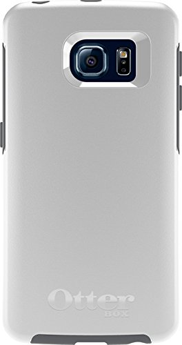 OtterBox SYMMETRY SERIES Case for Samsung Galaxy S6 EDGE - Frustration Free Packaging - GLACIER (WHITE/GUNMETAL GREY) (Otterbox For Samsung Note Edge compare prices)