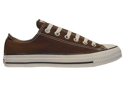 Converse Chuck Taylor All Star Lo Top Chocolate Canvas Shoes  men's 10/ women's 12
