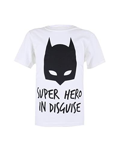 DC Comics T-Shirt Manica Corta Batman Disguise [Bianco]