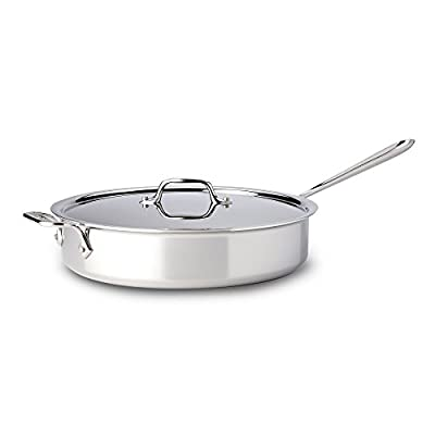 All-Clad Tri-Ply Stainless Steel 5-qt. Saute Pan with Lid