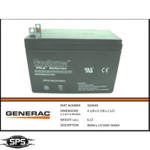 Generac - BATTERY 12V10AH SEALED - 0G9449