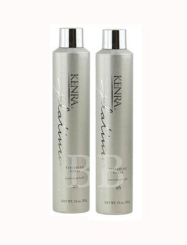 Kenra Platinum Finishing Spray #26 10oz Maximum Hold Finishing Spray Two Pack Deal! (Kenra Platinum Texturizing compare prices)