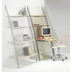 "Ladder Office Desk-Maple/Platinum (Maple/Platinum) (33""w x 23""d x 74""h)"