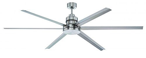 Craftmade MND72BNK6 Mondo Ceiling Fan with Brushed Nickel Blades, Brushed Polished Nickel, 72 by Craftmade (Craftmade Mondo Ceiling Fan compare prices)