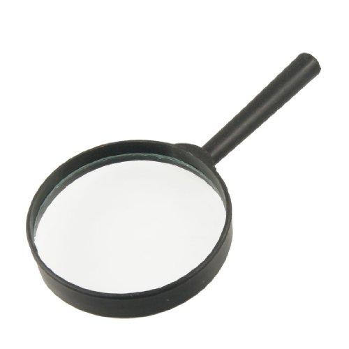 Black Plastic Handle 80mm Diameter Lens 3X Magnifier Magnifying
