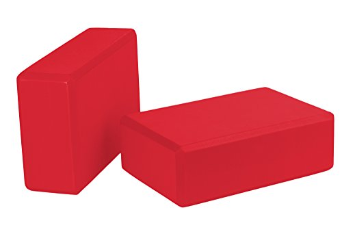 Spoga Set of 2 Yoga Blocks Premium Quality, Red