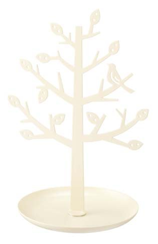 White Metal Tree Stand for Jewelry and Accessories, Modern Jewelry Organizer