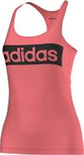 Adidas Ess Linear Tank Maglia per Donna, Rosa/Nero (Rubsup/Nero), XS