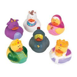 Lot of (12) Fairy Tale Rubber Duck Ducky Party Favors