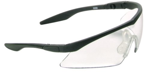 MSA Safety Works 10021259 Straight Temple Safety Glasses, Clear