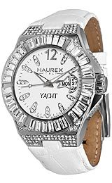 Haurex Italy Glam Yacht Full Stone White Dial Women's watch #8S340DWW